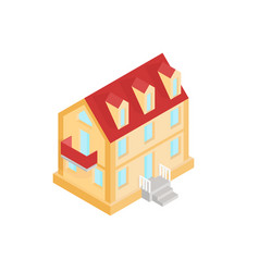 residential house colored isometric drawing vector image