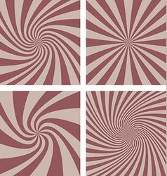 Retro spiral background set vector