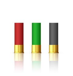 rifle bullet set shotgun hunting firearms vector image