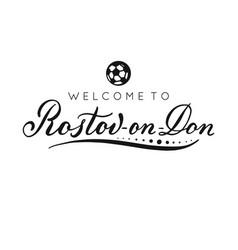 Rostov-on-don handwritten lettering inscription vector