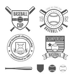set vintage badge emblem and elements vector image