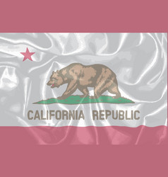 Silk flag of the state of california vector
