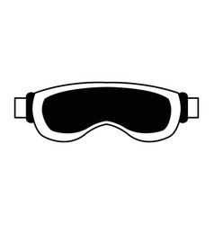 Ski glasses or goggles winter snow sport mask vector