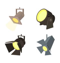 spotlight icon set cartoon style vector image