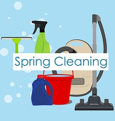 Spring cleaning background vector
