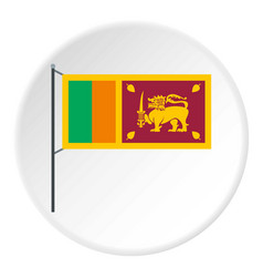 Sri lanka flag icon circle vector