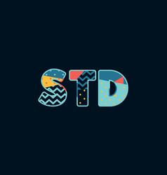 std concept word art vector image