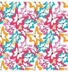 summer seamless pattern with butterfly vector image