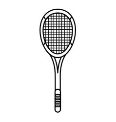tennis racket equipment image outline vector image