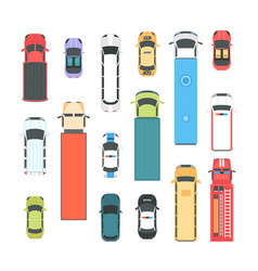 Vehicles - set of modern city elements vector