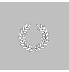 victory wreath computer symbol vector image
