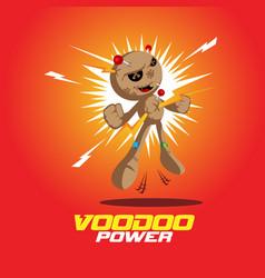 Voodoo power doll vector