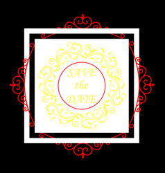 Wedding invitation card modern design template vector