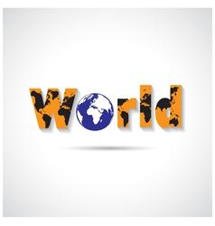 World maps symbol vector image