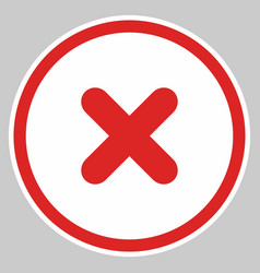 Wrong marks cross marks rejected disapproved no vector