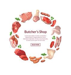 cartoon meat elements vector image