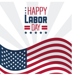 colorful poster of happy labor day with the vector image vector image