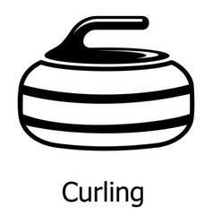curling icon simple black style vector image