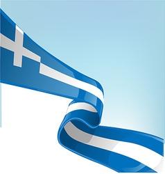 Greek flag on sky background vector image