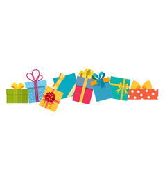 set of gifts boxes vector image
