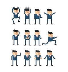 businessman character poses vector image vector image