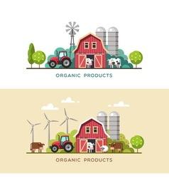 Farming Farm fresh products vector image vector image