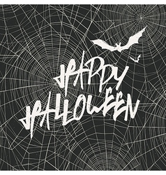 Happy Halloween Card Template Happy Halloween With vector image vector image