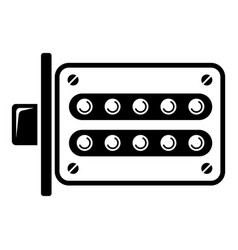 push button lock icon simple style vector image