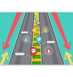 Road targeted Business vector image