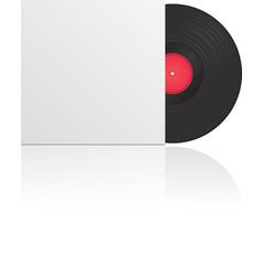 vinyl record in envelope vector image vector image