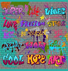 graffiti graffito of brushstroke lettering vector image