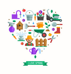 i love spring card vector image vector image