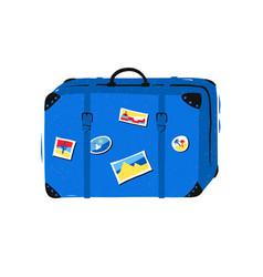 travel bag on white background vector image