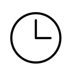 clock icon - iconic design vector image vector image