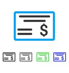 dollar cheque flat icon vector image