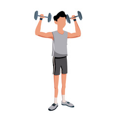 fitness man bodybuilding exercise strong vector image vector image