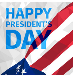 happy presidents day greeting card vector image vector image