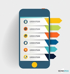 Infographic design template Touchscreen device vector image