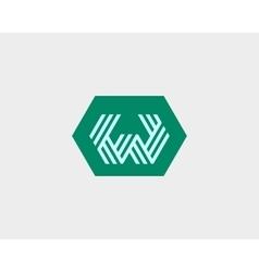 Letter W logo icon design Creative line vector image