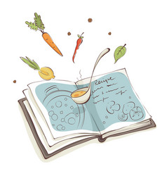 magic cookbook vector image
