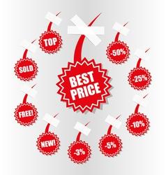 shopping sales tag vector image vector image