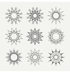 Simple monochrome geometric abstract symmetric vector image