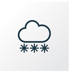 Snowfall outline symbol premium quality isolated vector