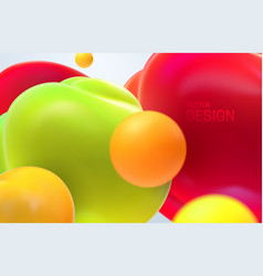 abstract background with dynamic 3d bubbles vector image