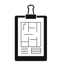 Architect clipboard icon simple style vector