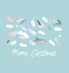artistic hand drawn unusual christmas design vector image