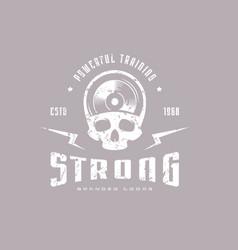 athletic emblem for t-shirt vector image