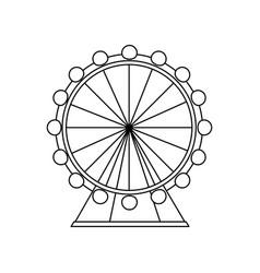 attraction ferris wheel landmark tourism adventure vector image