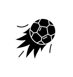 ball goal black icon sign on isolated vector image
