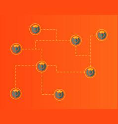 Blockchain komodo symbol cryptocurrency background vector